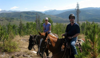 Horseback riding at Vista Verde Ranch.