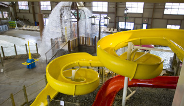 Indoor water park at Hope Lake Lodge & Indoor Waterpark.