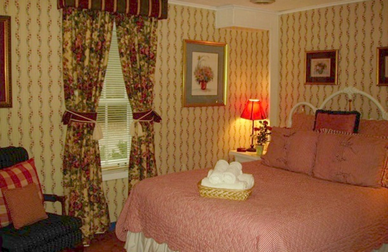 Guest room at Nutmeg Country Inn.