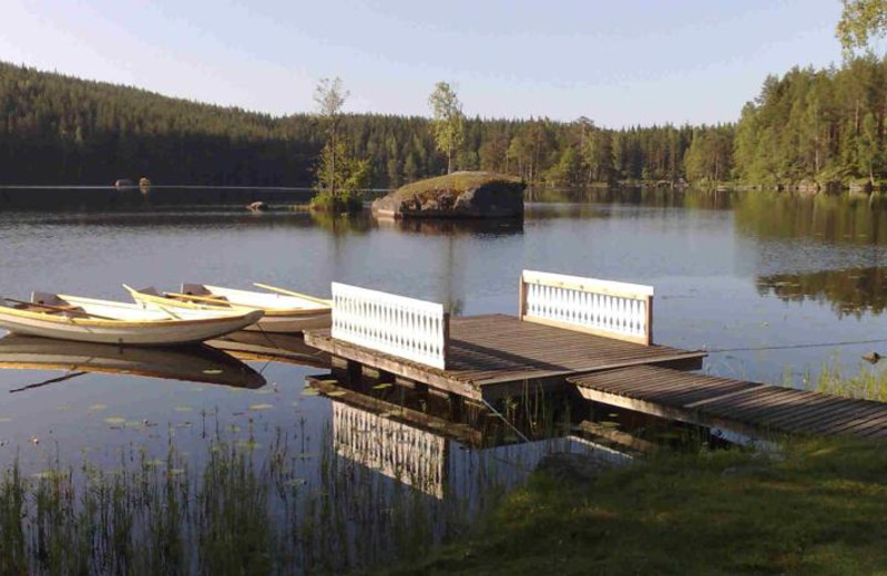 Dock at Hennickehammar Country House.