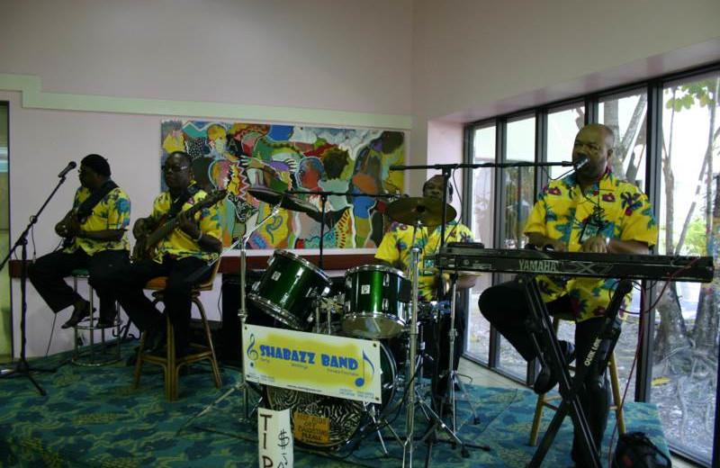 Band playing at Orange Hill Beach Inn.