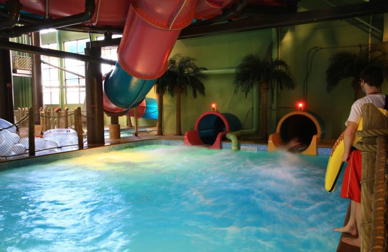 Water slides at Maui Sands Resort & Indoor Waterpark.
