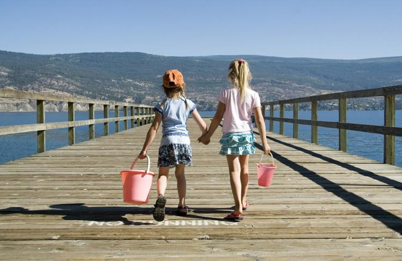 Kids on dock at Summerland Waterfront Resort.