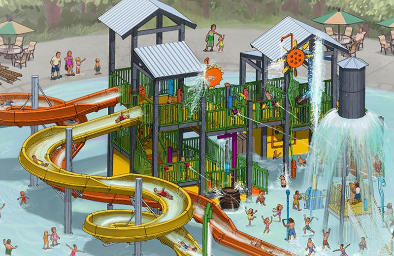 Waterpark at Yogi Bear's Jellystone Park Guadalupe.