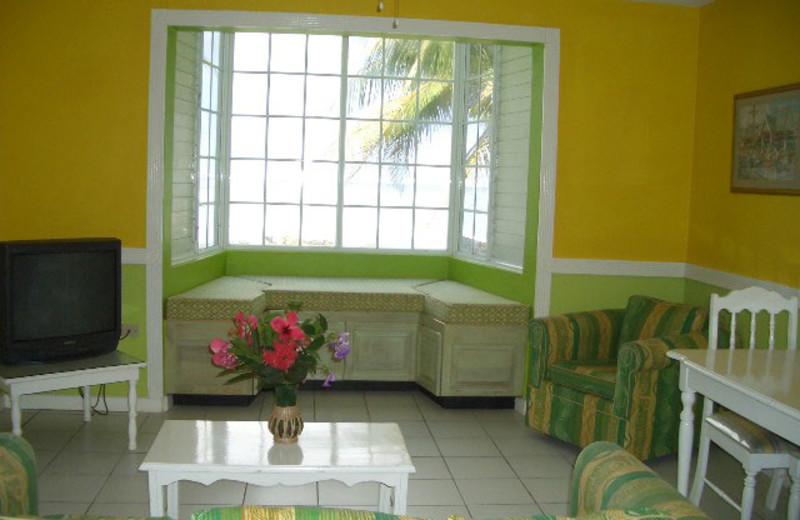 Guest room at Chrisanns Beach Resort.