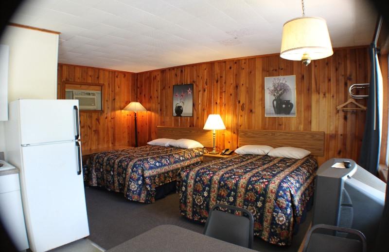 Guest room at Capri Village Resort.