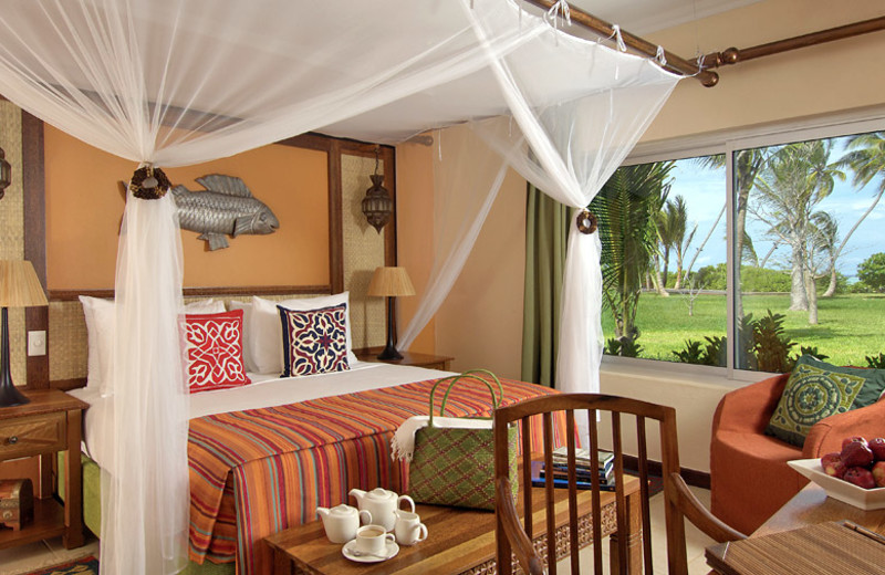 Guest room at Fairmont Zanzibar.