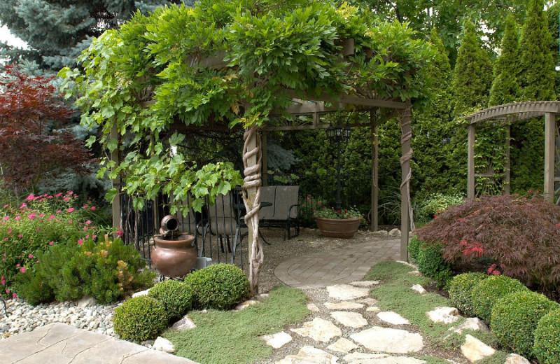 Patio at A Vista Villa Couples Retreat.