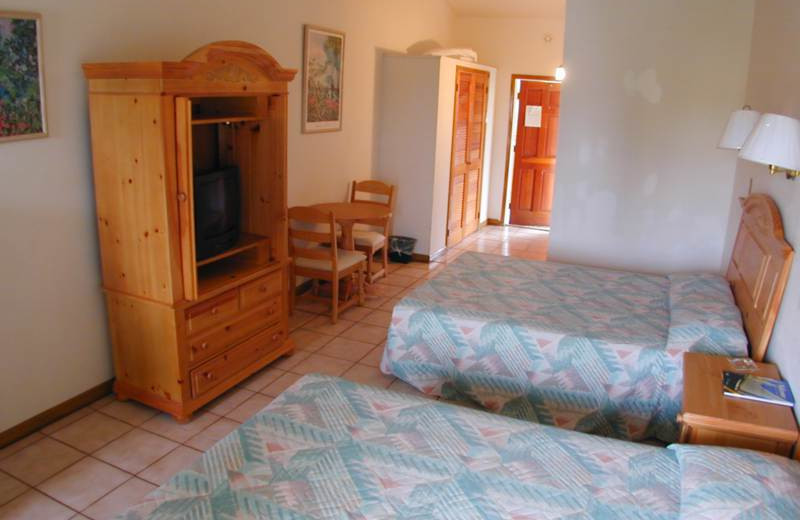 Guest room at Orange Hill Beach Inn.