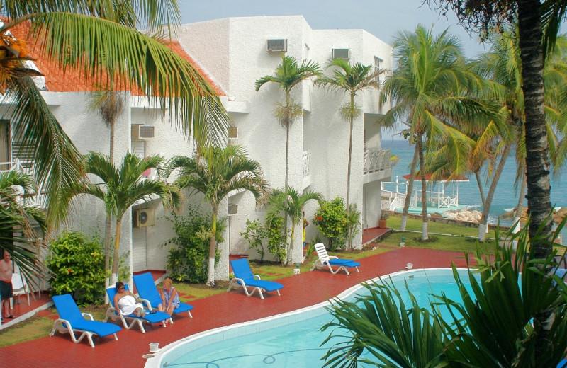 Outdoor pool at Chrisanns Beach Resort.