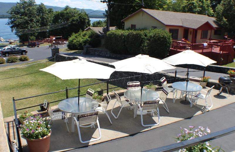 Patio area at Capri Village Resort.