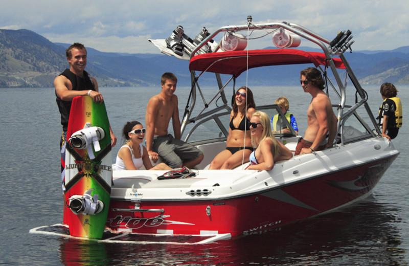 Boating at Summerland Waterfront Resort.