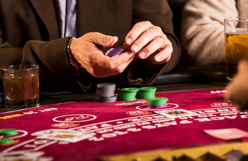 Poker table at Rocky Gap Casino Resort.