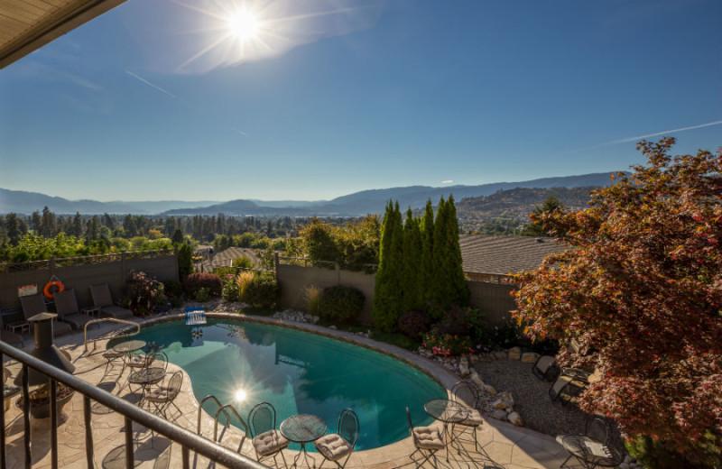 Pool view at A Vista Villa Couples Retreat.