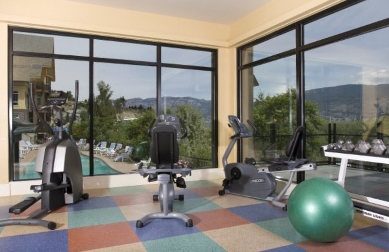 Fitness room at Summerland Waterfront Resort.
