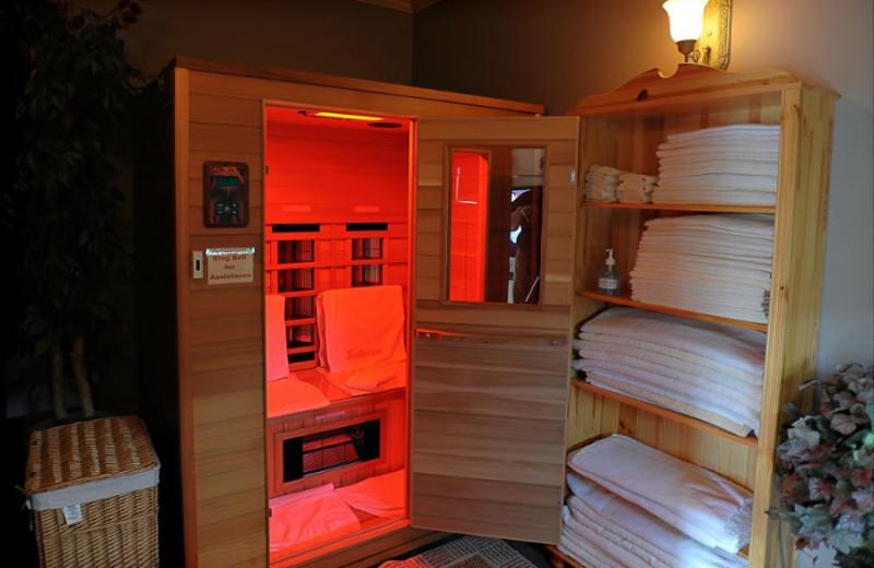 Sauna at A Vista Villa Couples Retreat.