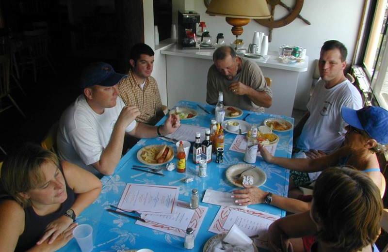 Dining at Orange Hill Beach Inn.