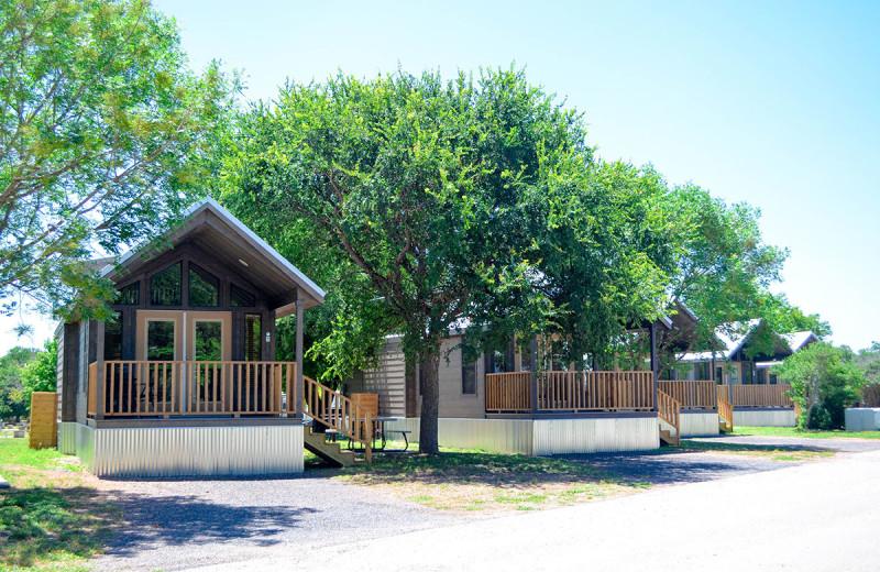 Cabins at Yogi Bear's Jellystone Park Guadalupe.