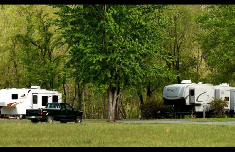 RV camping at Smoke Hole Caverns & Log Cabin Resort.