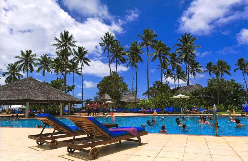 Outdoor pool at Naviti Resort.