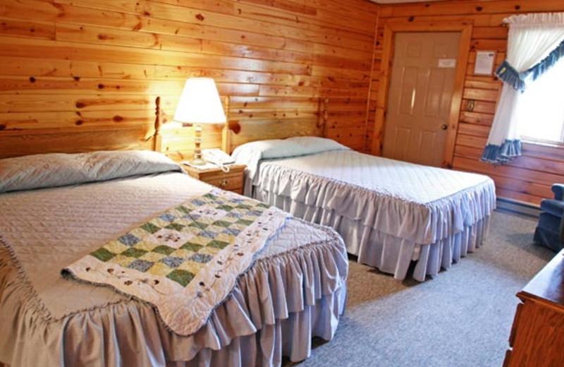 Log Motel guest room at Smoke Hole Caverns & Log Cabin Resort.