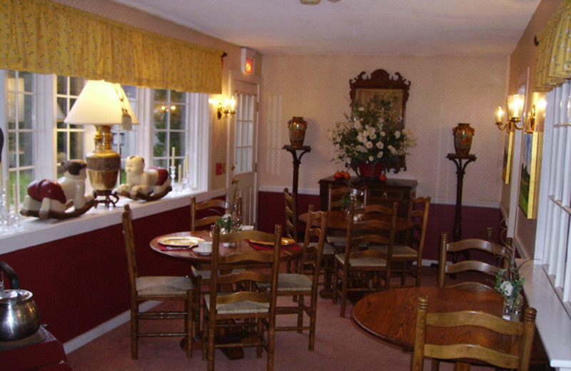 Dining room at Nutmeg Country Inn.