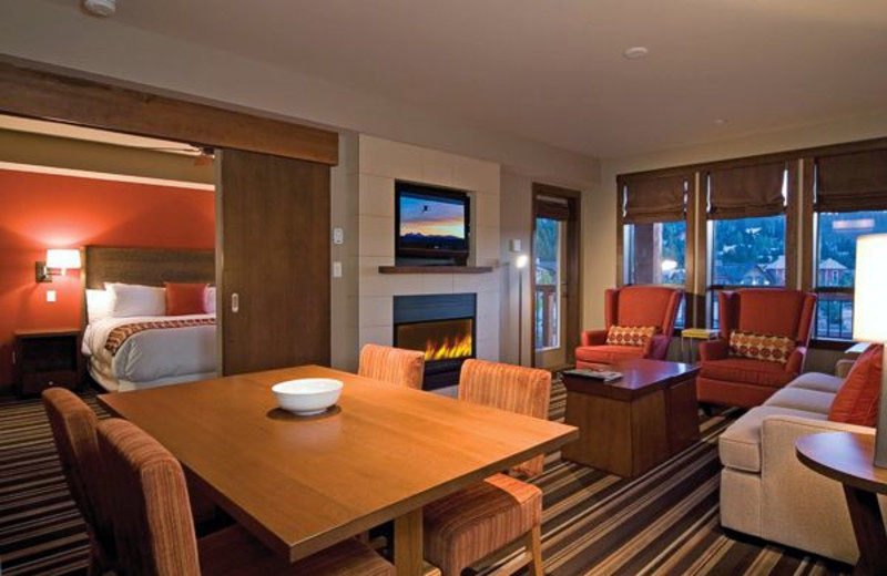 Guest living room at Evolution Whistler.