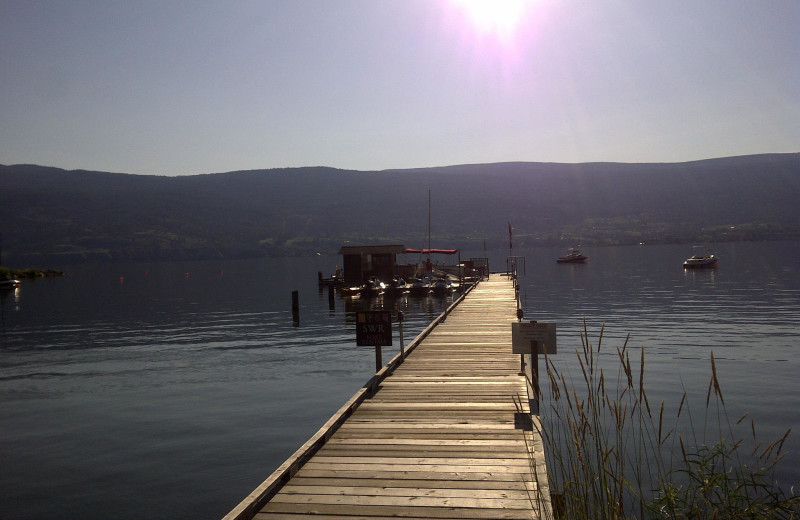 The dock at Summerland Waterfront Resort.