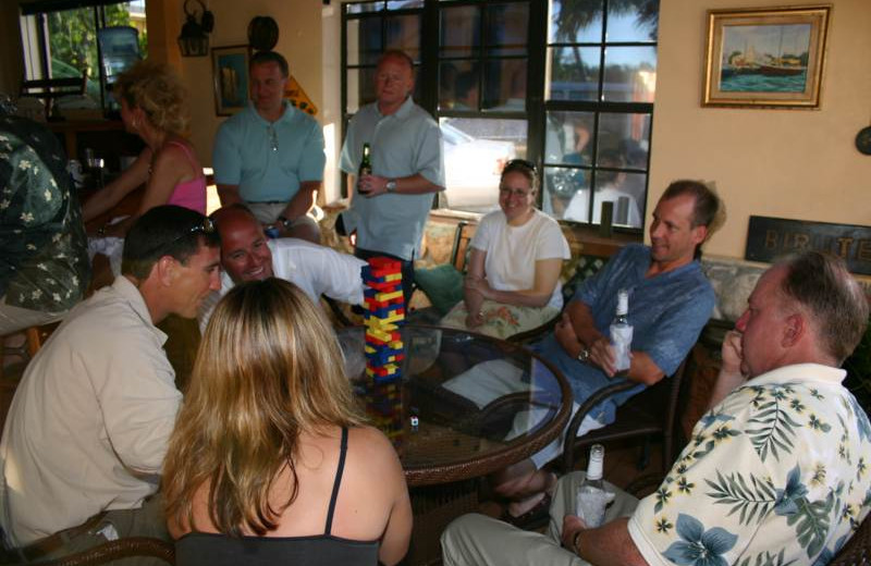 Playing games at Orange Hill Beach Inn.