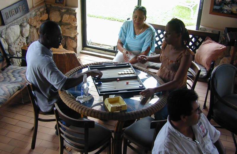 Games at Orange Hill Beach Inn.