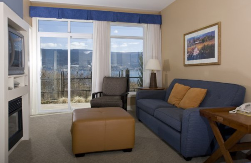 Guest living room at Summerland Waterfront Resort.