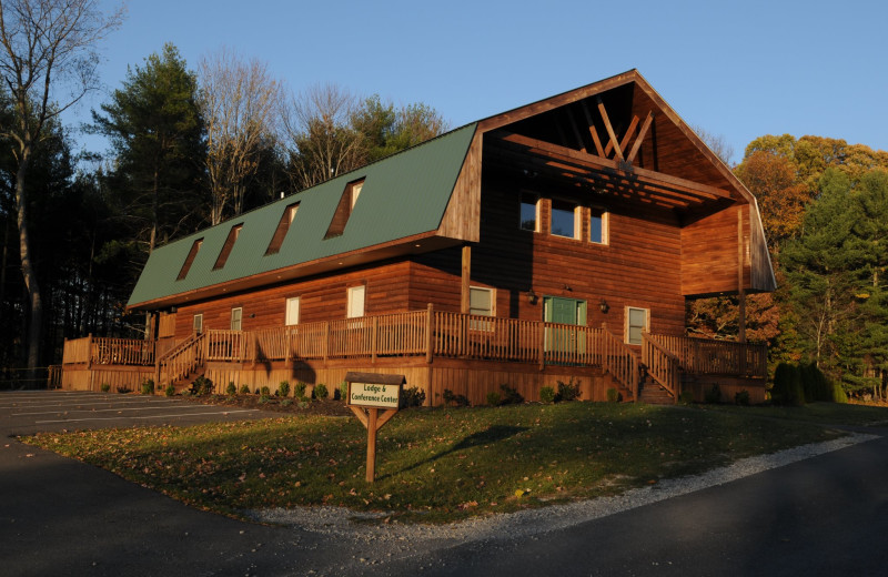 Exterior view of The Cabins at Pine Haven.