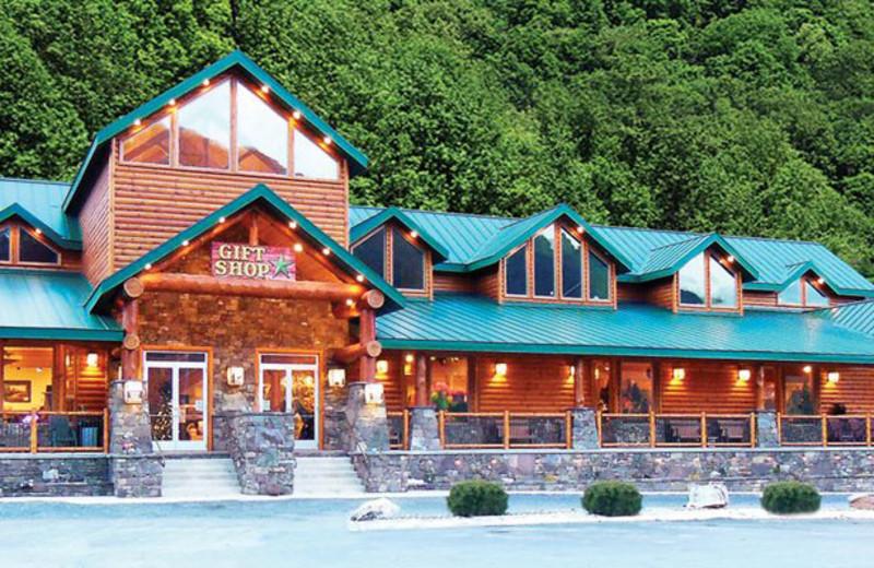 Gift shop exterior at Smoke Hole Caverns & Log Cabin Resort.