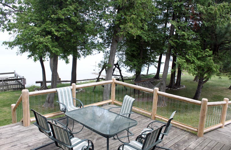 Deck Dining at Sand Bay Lodge & Cottages