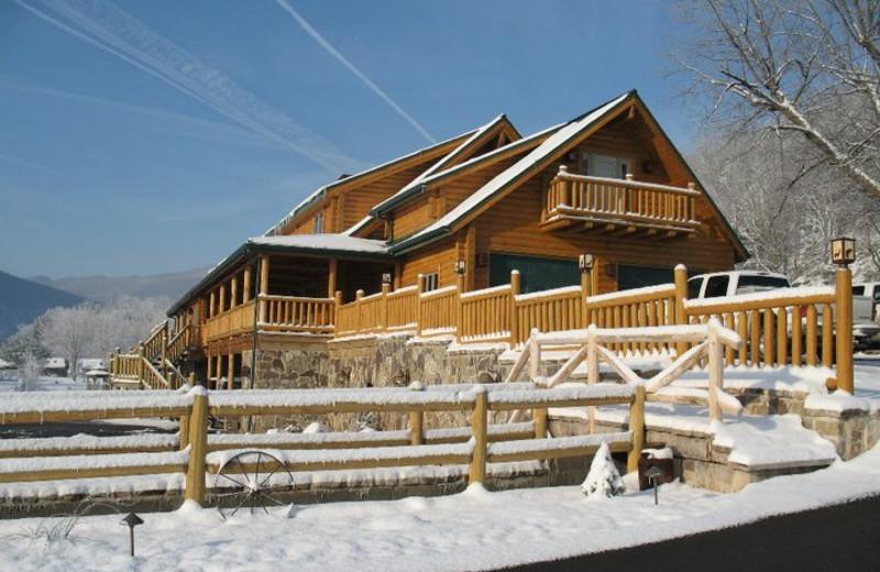 Winter time at Smoke Hole Caverns & Log Cabin Resort.