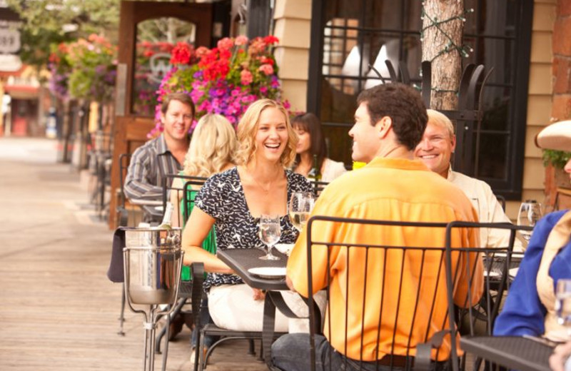 Outdoor dining at Wort Hotel.