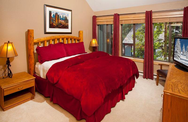 Vacation rental bedroom at Vail Racquet Club.