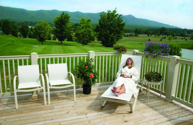 Relaxing at Massanutten Resort.