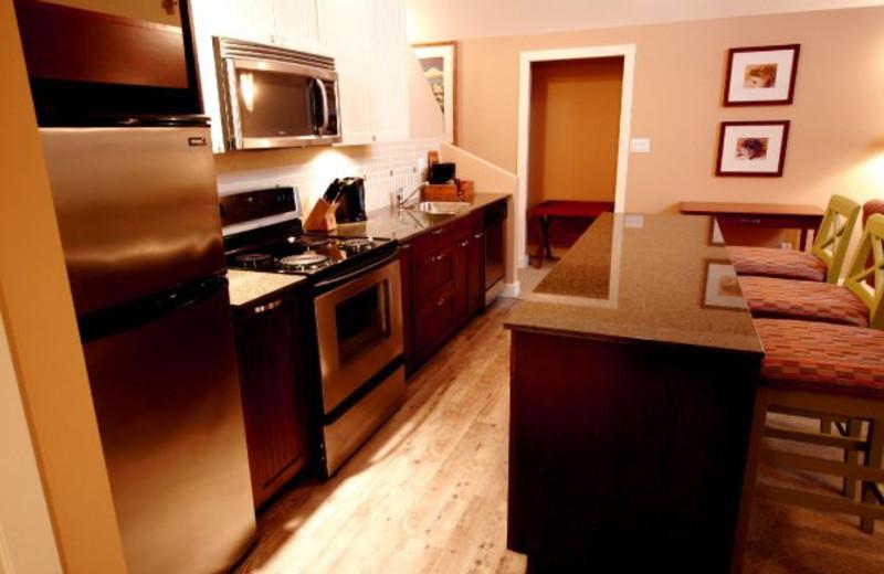 Guest kitchen at Summerland Waterfront Resort.