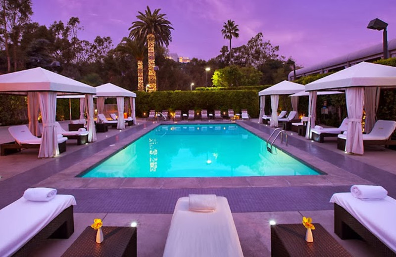 Outdoor pool at Luxe Hotel Sunset Boulevard.