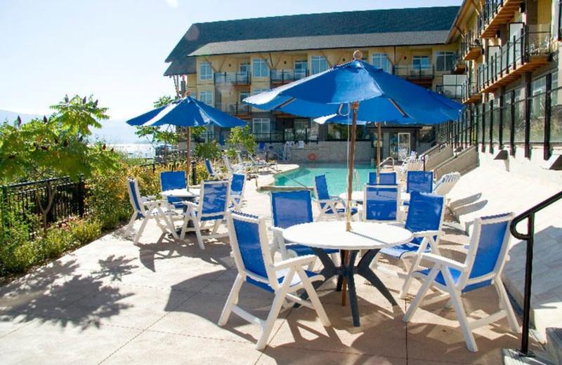 Outdoor deck at Summerland Waterfront Resort.