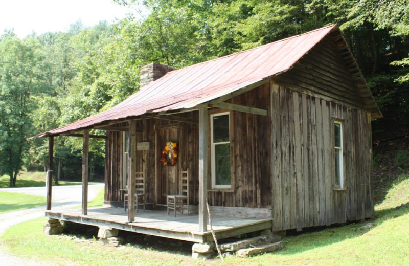 Cabin exterior at Leatherwood Mountains Resort.