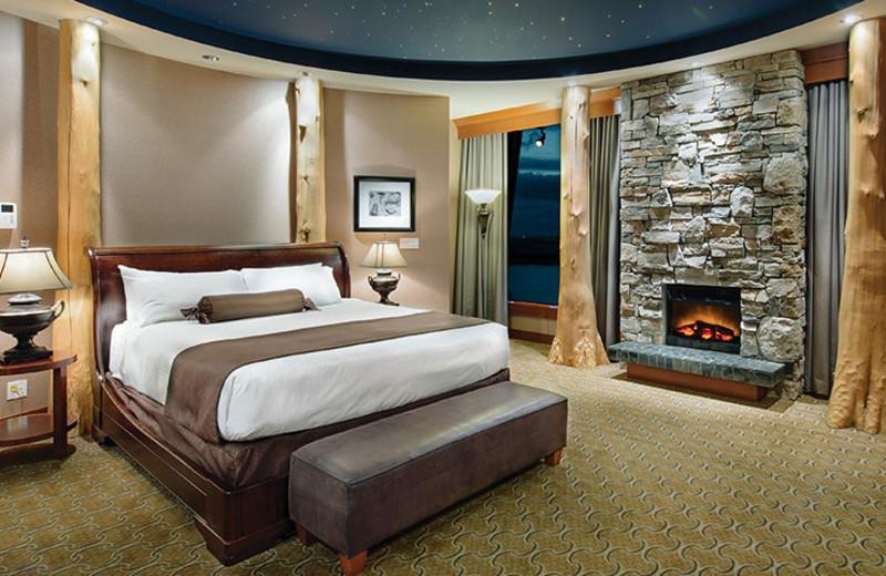 Guest room at River Rock Casino Resort.