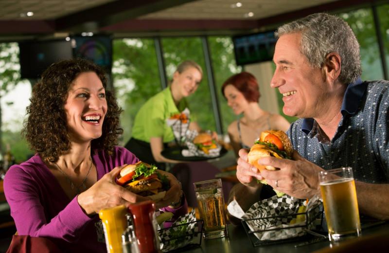 Dinning at Signature's Bar and Grill at Rocky Gap Casino Resort.
