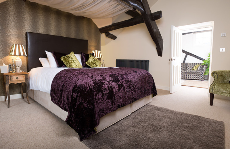 Guest room at Hipping Hall.