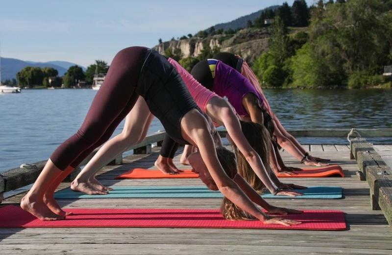 Yoga class at Summerland Waterfront Resort.