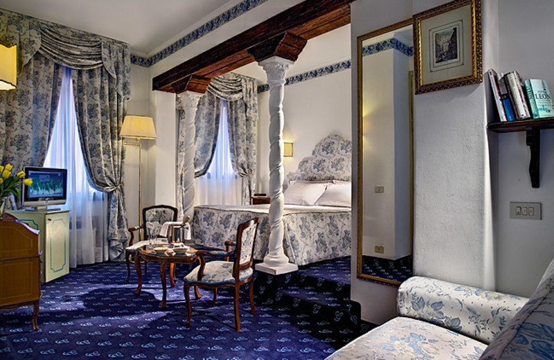 Guest room at Hotel Giorgione.