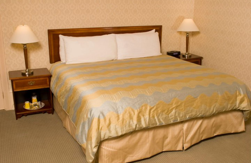 Guest bed at The Opal.