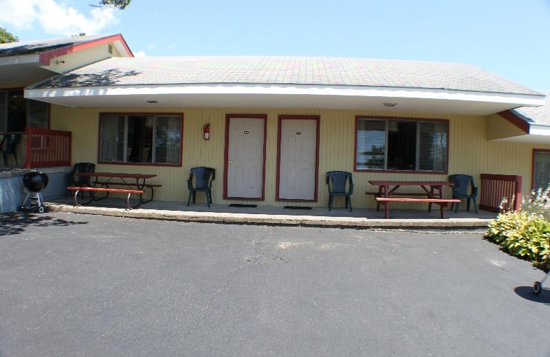 Motel exterior at Capri Village Resort.