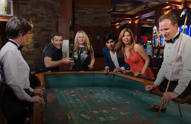 Poker table at River Rock Casino Resort.